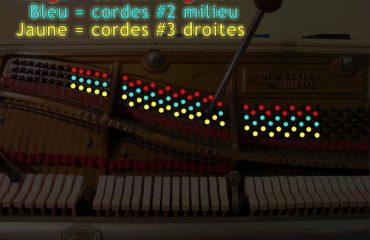 Position des cordes du piano